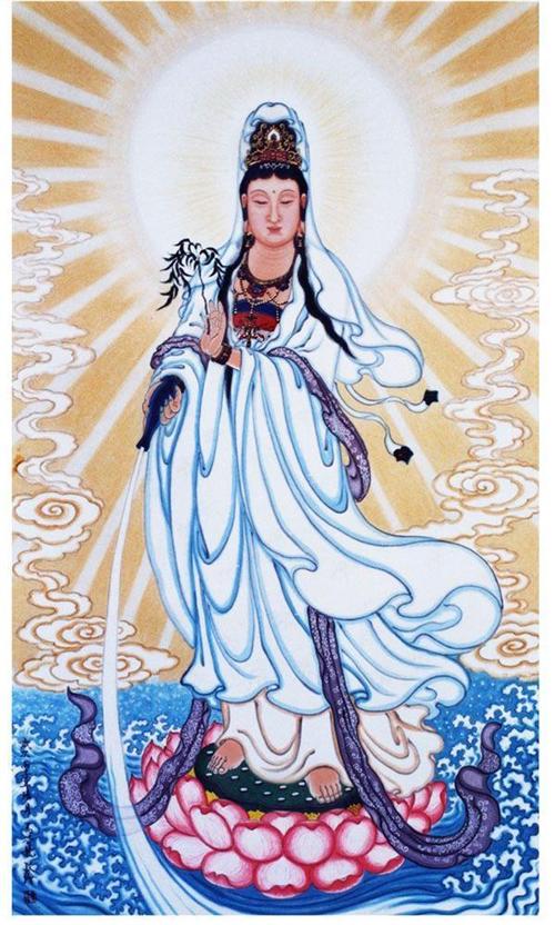 中国民间白衣观音菩萨像