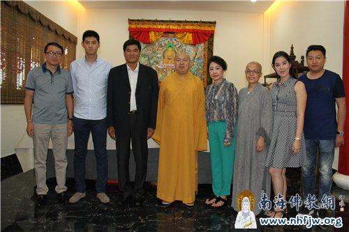 柬埔寨王国参访团与印顺大和尚合影留念